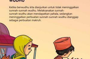 baca buku islam online, fiqih islam bergambar for kids jilid 02_034 Mengerjakan Sunnah-Sunnah Wudhu