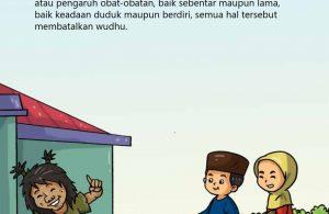baca buku islam online, fiqih islam bergambar for kids jilid 02_037 Hilang Ingatan yang Bisa Membatalkan Wudhu