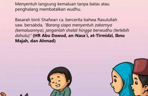 baca buku islam online, fiqih islam bergambar for kids jilid 02_038 Menyentuh Kemaluan Tanpa Batas atau Penghalang