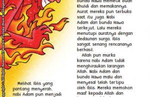baca buku online aku cinta rasul kisah teladan 25 nabi dan rasul jilid 110 Inilah Penyebab Aurat Nabi Adam dan Siti Hawa Terbuka di Surga