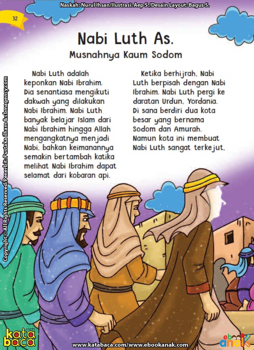 baca buku online aku cinta rasul kisah teladan 25 nabi dan rasul jilid 211 Nabi Luth Berdakwah Kepada Kaum yang Mencintai Sesama Jenis