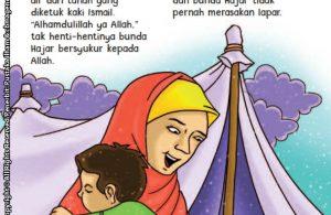 baca buku online aku cinta rasul kisah teladan 25 nabi dan rasul jilid 223 Air Zam Zam Muncul Pertama Kali dari Pijakan Kaki Nabi Ismail