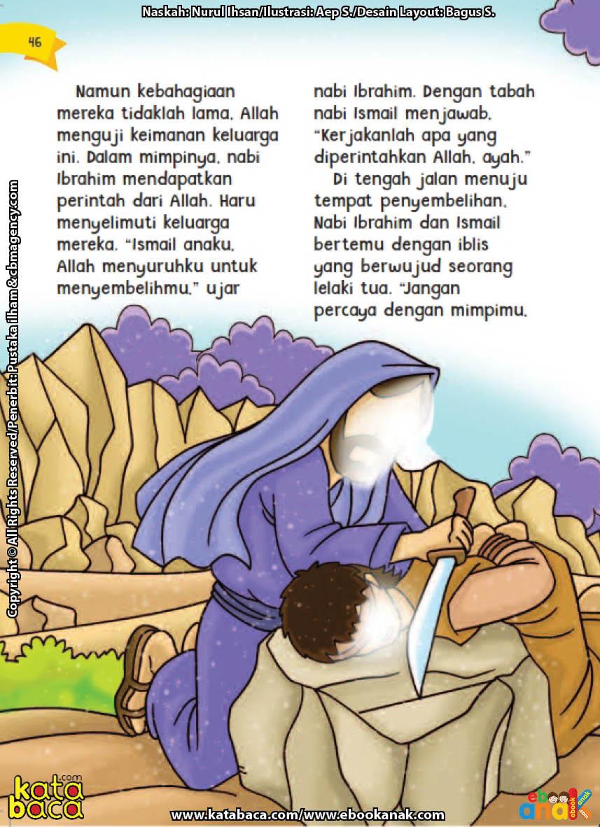 baca buku online aku cinta rasul kisah teladan 25 nabi dan rasul jilid 225 Iblis Mencegah Nabi Ibrahim untuk Mengurbankan Nabi Ismail