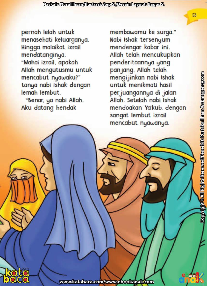 baca buku online aku cinta rasul kisah teladan 25 nabi dan rasul jilid 232 Apa Tujuan Malaikat Izrail Mengunjungi Nabi Ishak