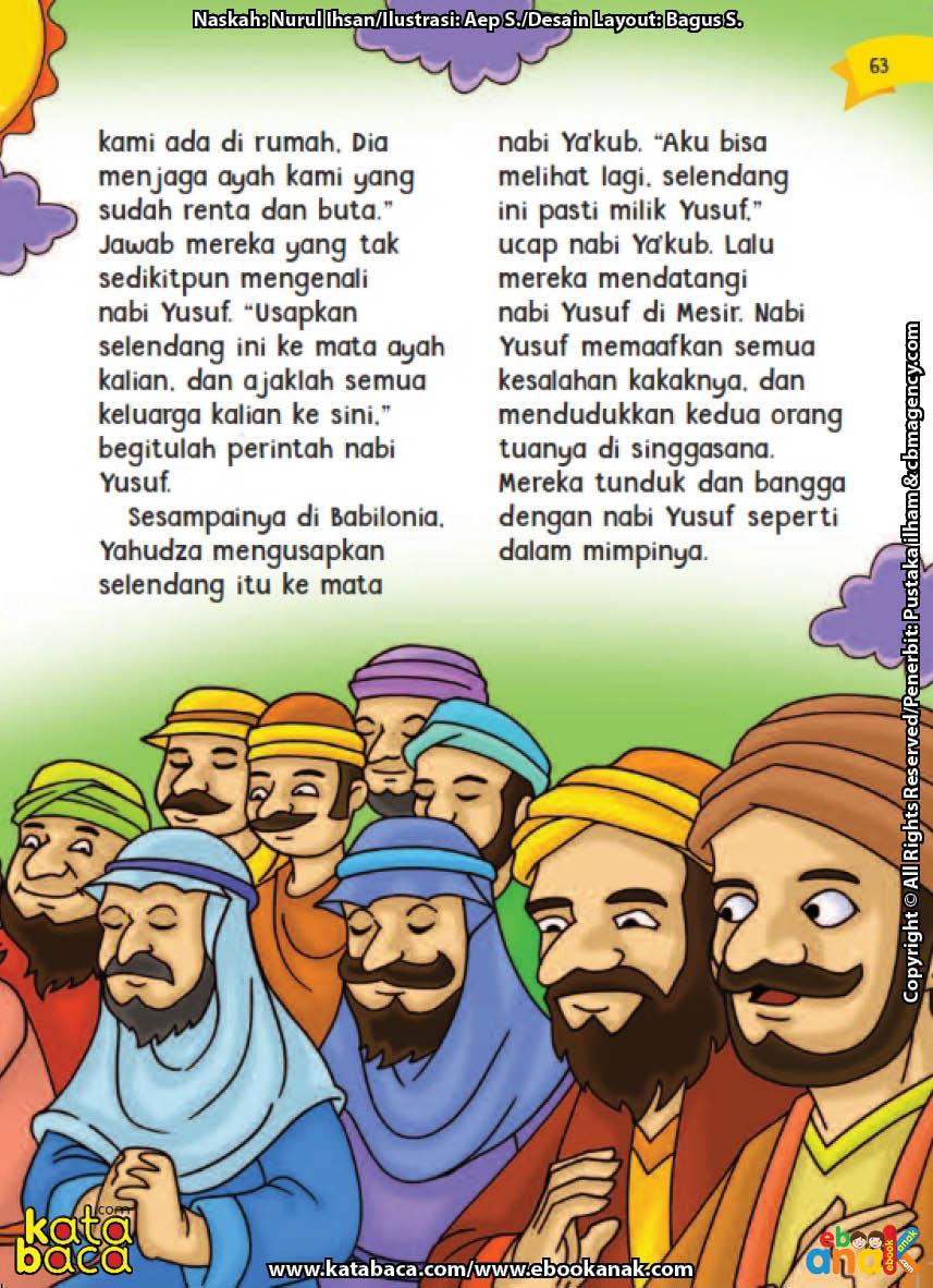baca buku online aku cinta rasul kisah teladan 25 nabi dan rasul jilid 310 Selendang Nabi Yusuf Pengobat Kebutaan Nabi Yakub