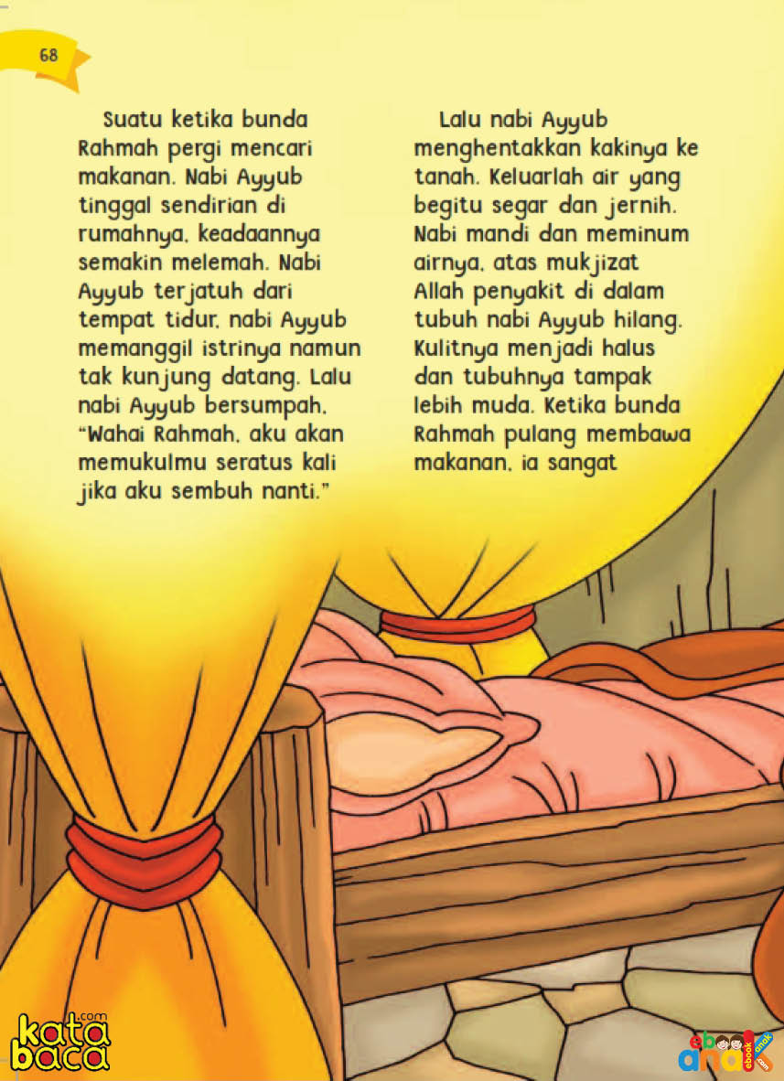 baca buku online aku cinta rasul kisah teladan 25 nabi dan rasul jilid 315 Ketika Nabi Ayyub Terjatuh dari Tempat Tidurnya