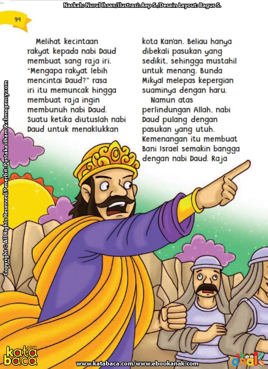 baca buku online aku cinta rasul kisah teladan 25 nabi dan rasul jilid 419 Kenapa Raja Bani Israel Iri pada Nabi Daud