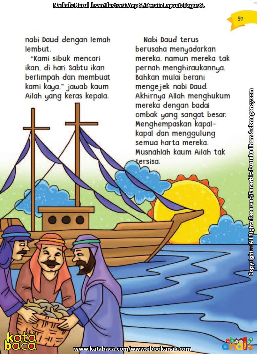 baca buku online aku cinta rasul kisah teladan 25 nabi dan rasul jilid 422 Inilah Alasan Kaum Ailah Membangkang Kepada Nabi Daud