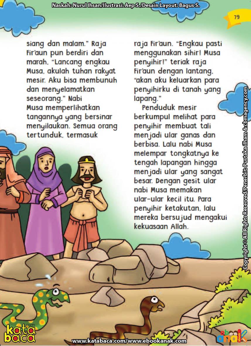 baca buku online aku cinta rasul kisah teladan 25 nabi dan rasul jilid 44 Pengorbanan Masyitoh, Tukang Sisir Kerajaan Firaun, Direbus ke dalam Minyak Panas