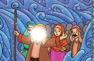 baca buku online aku cinta rasul kisah teladan 25 nabi dan rasul jilid 46 Ketika Laut Merah Terbelah Menjadi Dua Membentuk Jalan Penyeberangan