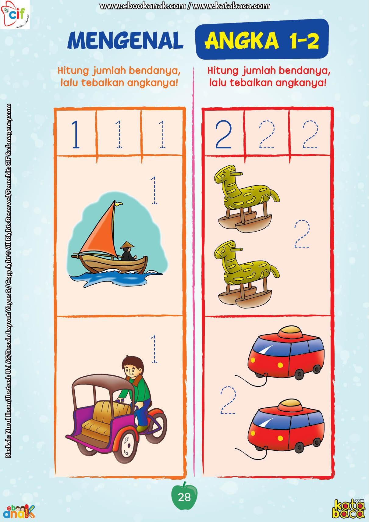 baca buku online brain games calistung28 Menghitung Jumlah Benda dan Menebalkan Angka