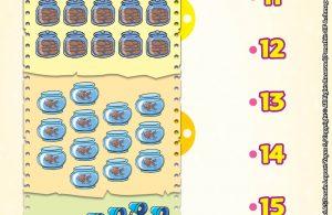 baca buku online brain games calistung41 Mengenal Angka 11-20 dengan Menghubungkan Jumlah Gambar dengan Angka yang Sesuai