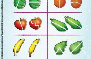 baca buku online brain games calistung44 Mengenal Pecahan dengan Melingkari Gambar