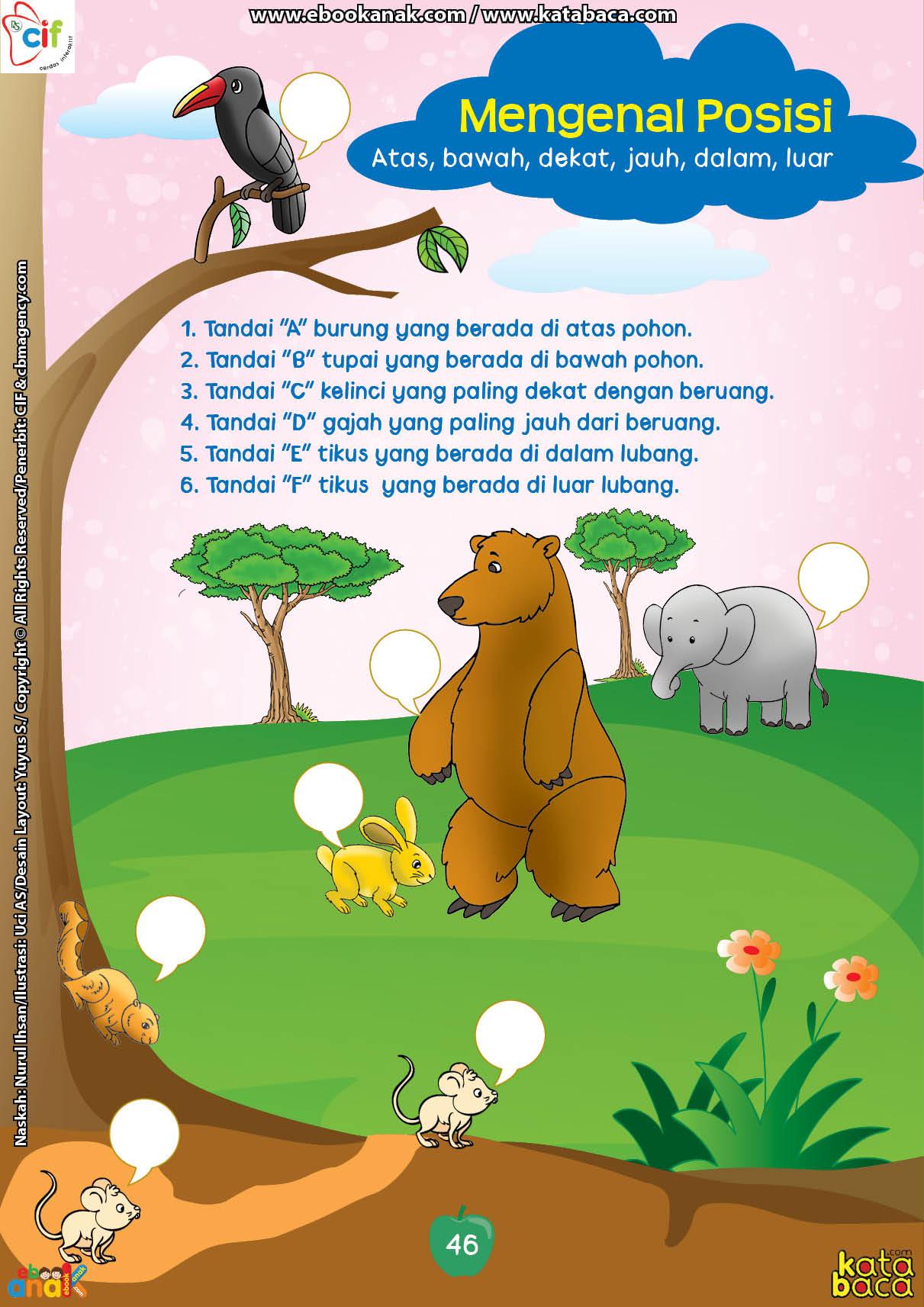 baca buku online brain games calistung46 Mengenal Posisi Atas, Bawah, Dekat, Jauh, Dalam, Luar