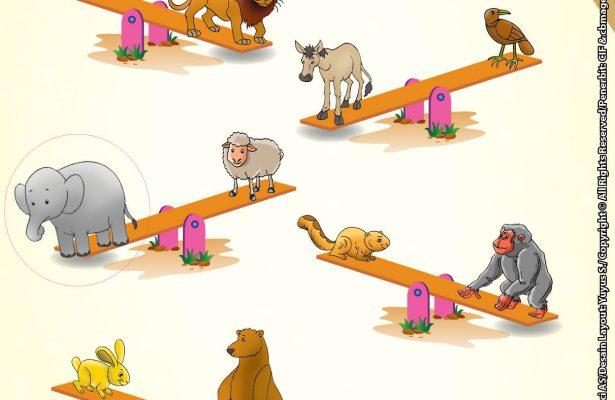 baca buku online brain games calistung47 Mengenal Berat dan Ringan dengan Melingkari Gambar Hewan