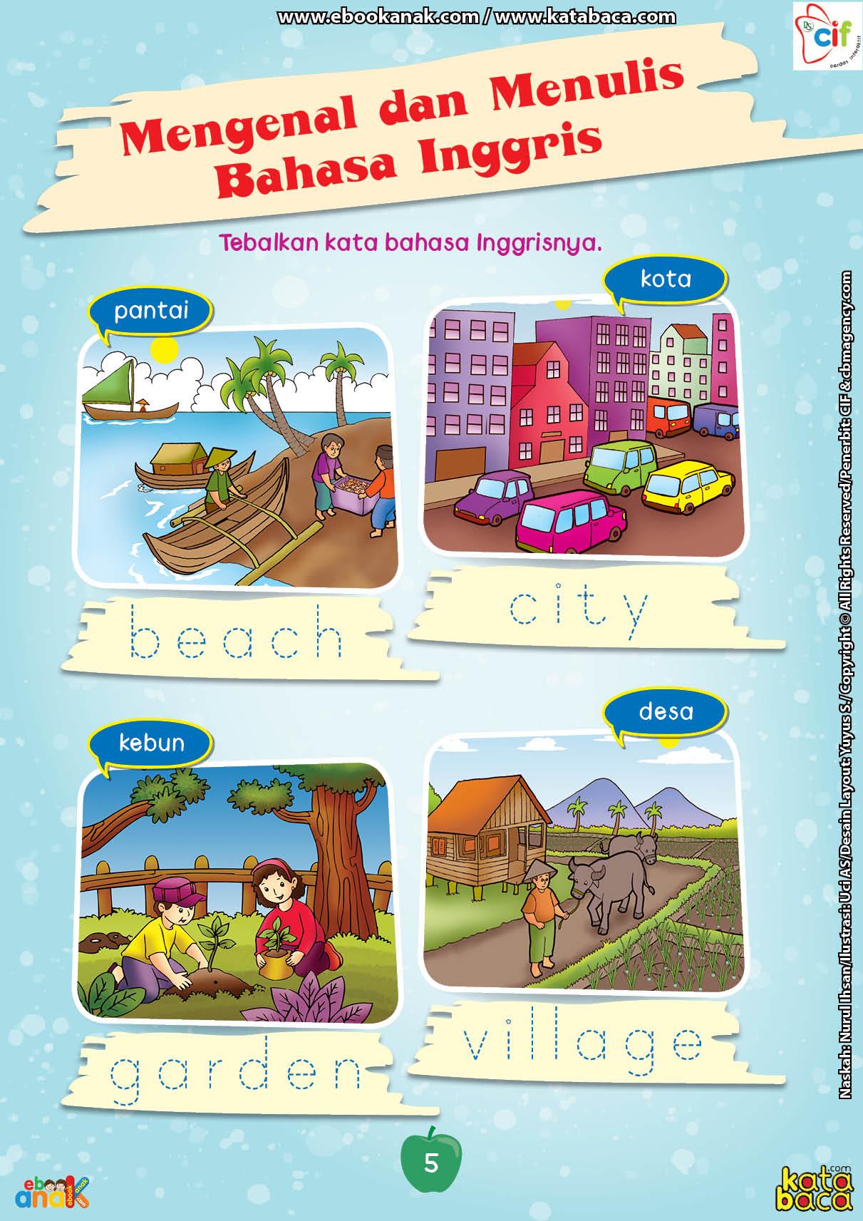 baca buku online brain games calistung5 Mengenal dan Menulis Bahasa Inggris dengan Menebalkan Katanya