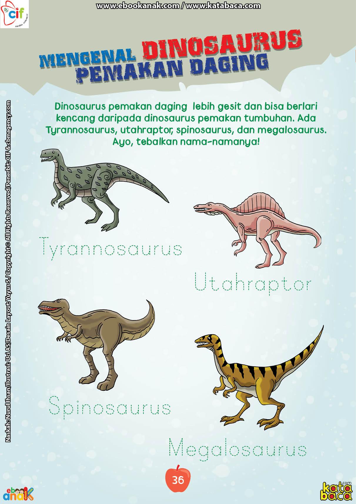 baca buku online brain games fun sains44 Inilah Daftar Nama-Nama Dinosaurus Pemakan Daging