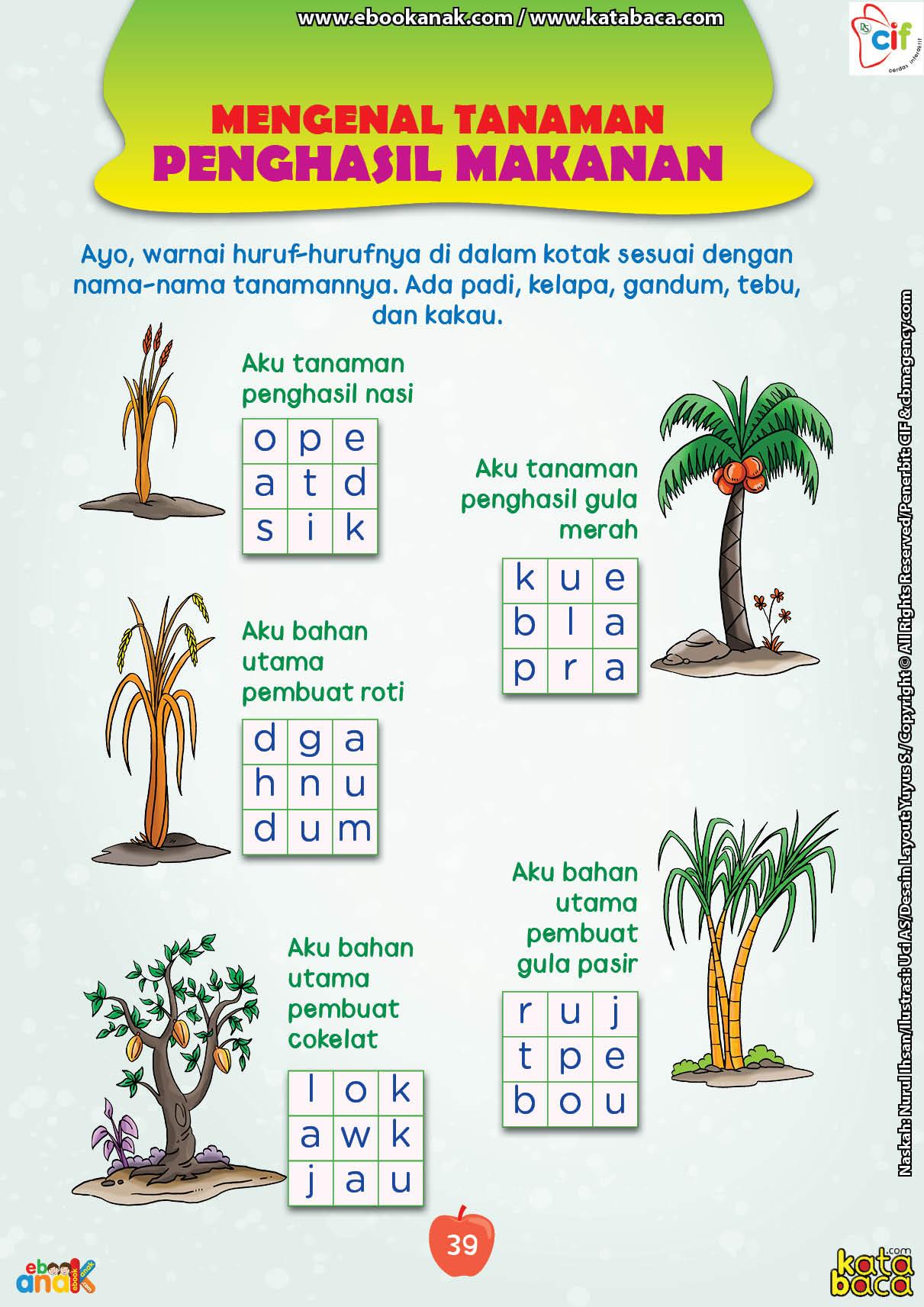 baca buku online brain games fun sains47 Mengenal Tanaman Penghasil Tanaman