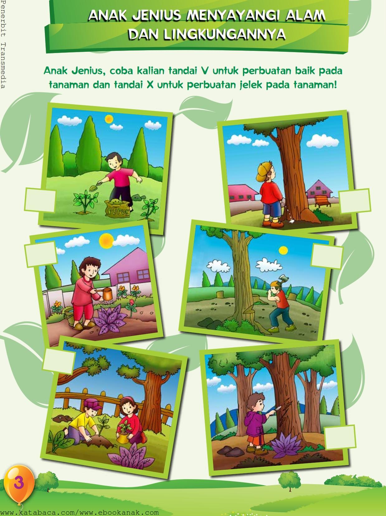 baca buku online, buku aktivitas anak jenius TK A B_006 anak jenius menyayangi alam dan lingkungannya