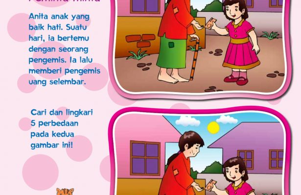 baca buku online, buku aktivitas anak jenius TK A B_007, anak jenius senang memberi