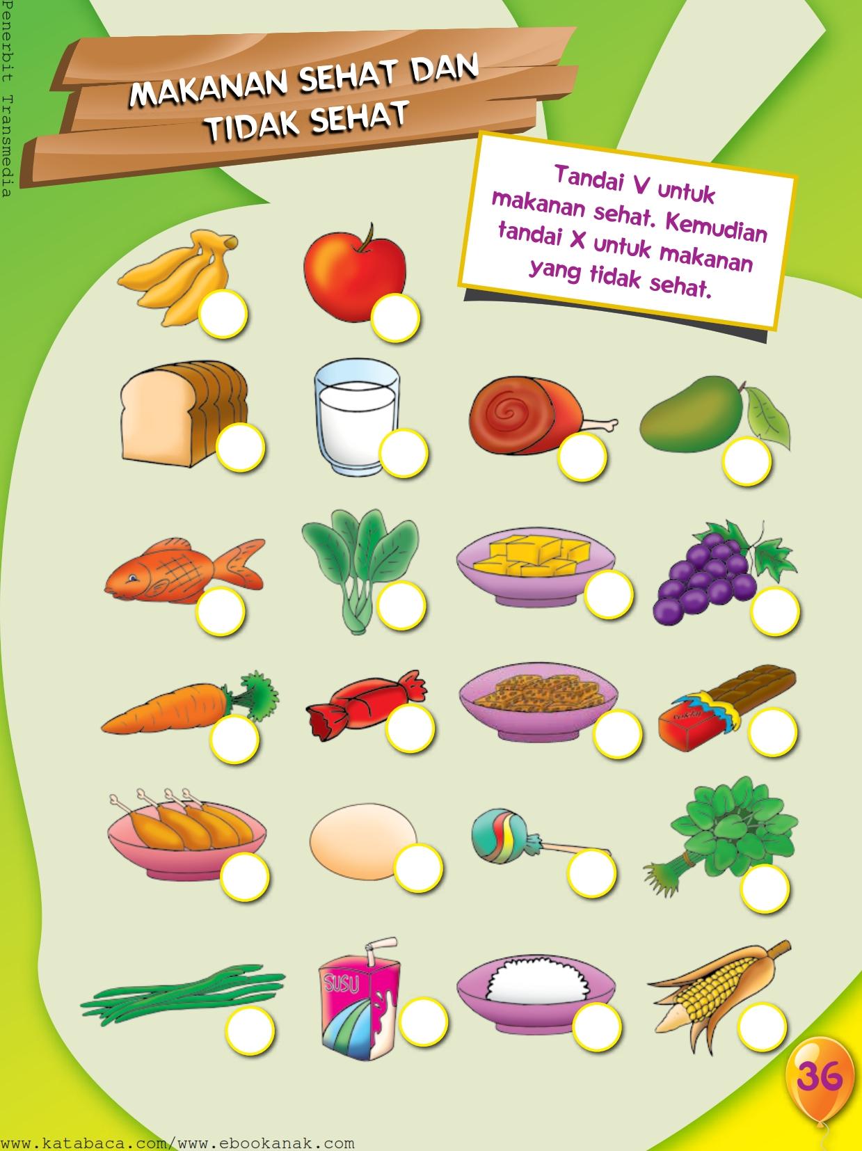 Mengenal Makanan Sehat Dan Makanan Tidak Sehat Ebook Anak