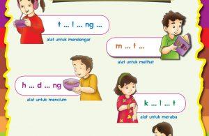 baca buku online, buku aktivitas anak jenius TK A B_042 belajar mengenal nama-nama anggota tubuh
