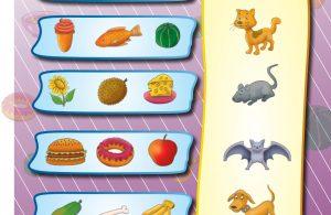 baca buku online, buku aktivitas anak jenius TK A B_051 mengenal makanan yang disukai hewan