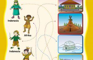 baca buku online, buku aktivitas anak jenius TK A B_058 mengenal suku bangsa di dunia