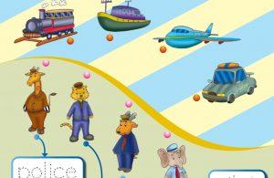 baca buku online, buku aktivitas anak jenius TK A B_060 mengenal profesi dan alat transportasinya