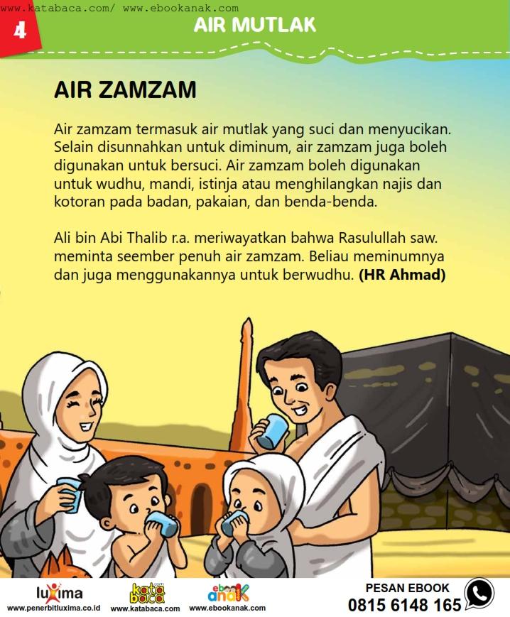 baca buku online, fiqih islam bergambar jilid 1_008 air zamzam