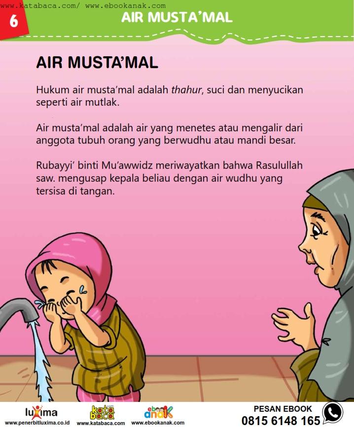 baca buku online, fiqih islam bergambar jilid 1_010 air mustamal