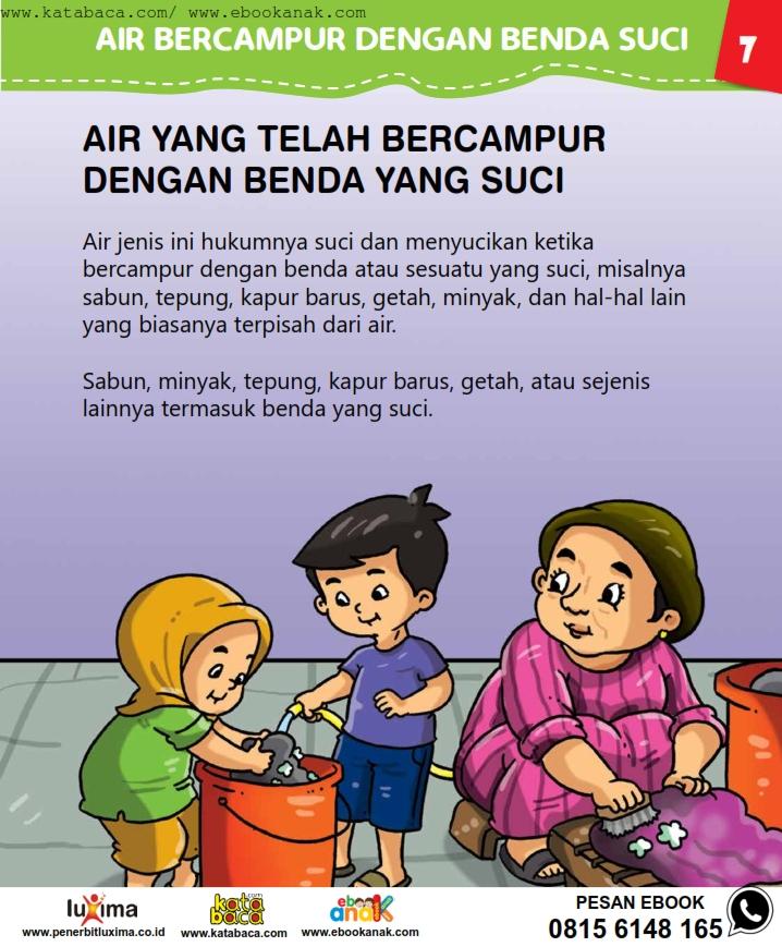 baca buku online, fiqih islam bergambar jilid 1_011 Air yang Telah Bercampur dengan Benda Suci