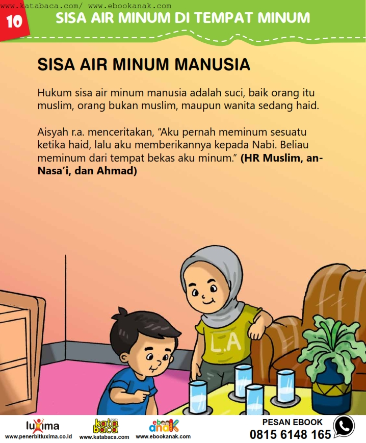 baca buku online, fiqih islam bergambar jilid 1_014 Sisa Air Minum Manusia