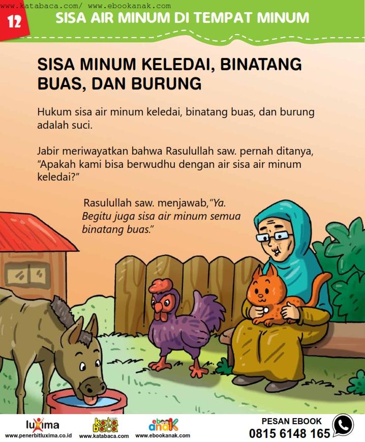 baca buku online, fiqih islam bergambar jilid 1_016 Sisa Minum Keledai, Binatang Buas, dan Burung