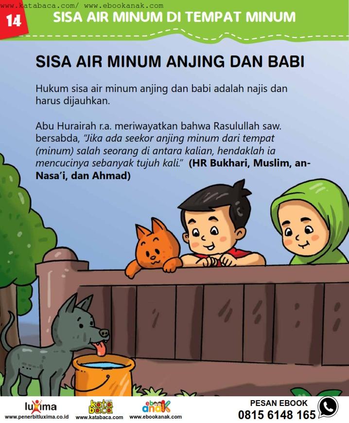 baca buku online, fiqih islam bergambar jilid 1_018 Sisa Air Minum Anjing dan Babi