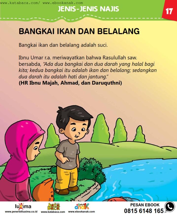 baca buku online, fiqih islam bergambar jilid 1_021 Bangkai Ikan dan Belalang Adalah Suci
