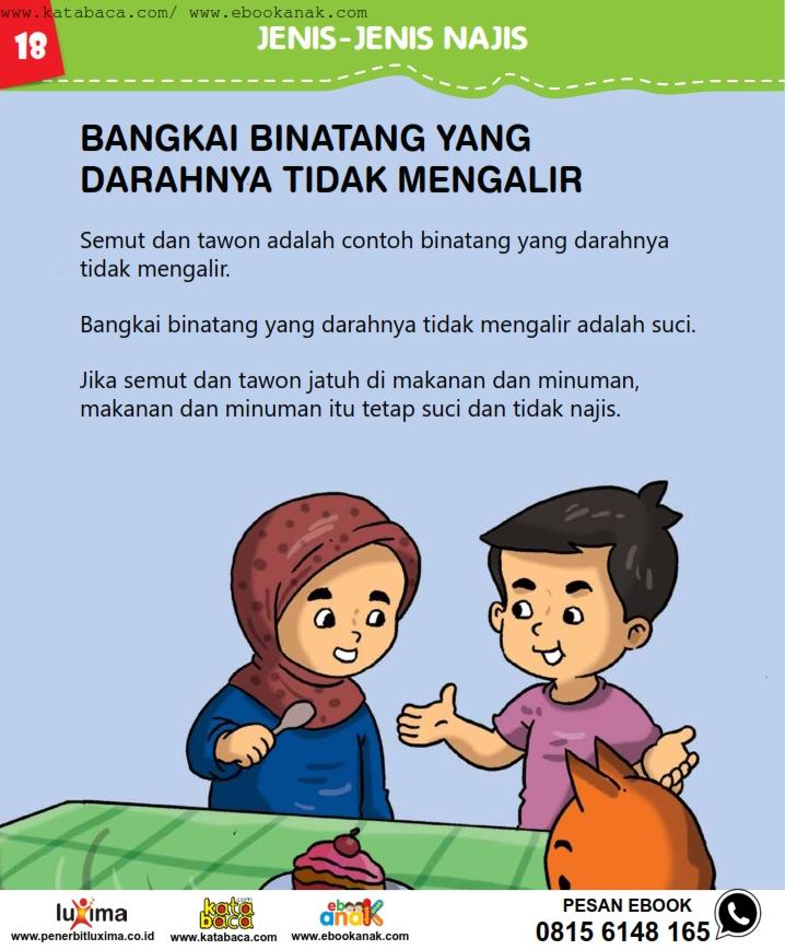 baca buku online, fiqih islam bergambar jilid 1_022 Bangkai Binatang yang Darahnya Tidak Mengalir