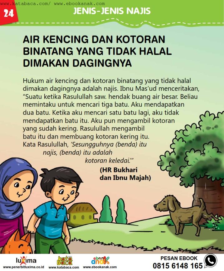 baca buku online, fiqih islam bergambar jilid 1_028 Hukum Air Kencing dan Kotoran Binatang yang Haram Dimakan