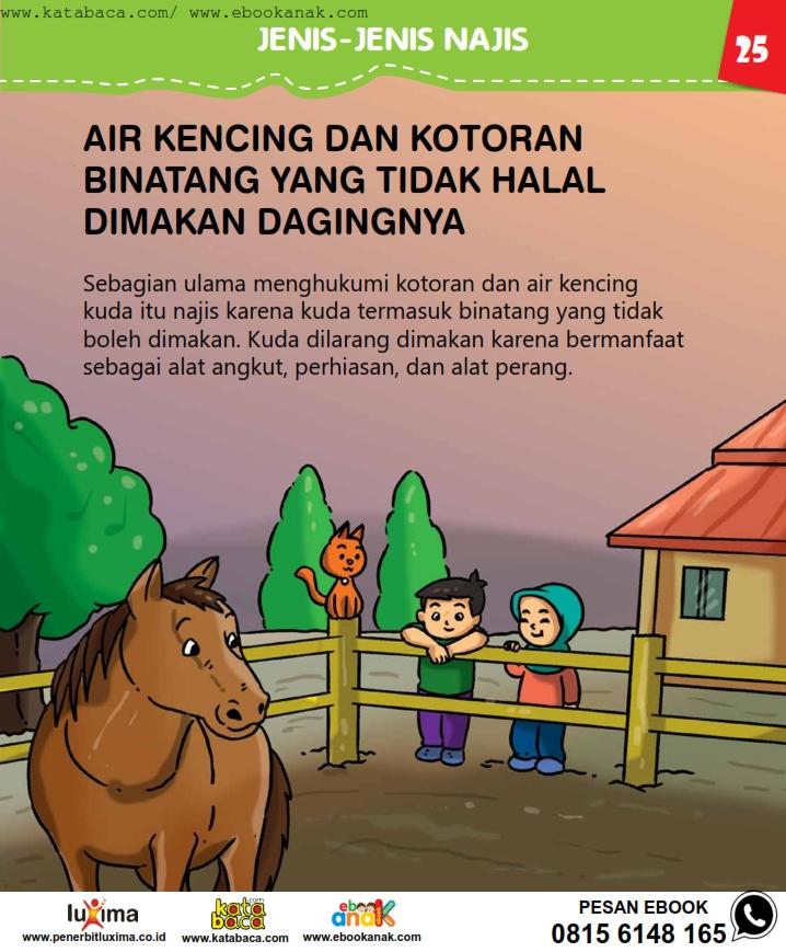 baca buku online, fiqih islam bergambar jilid 1_029 Apa Air Kencing dan Kotoran Kuda Termasuk Najis