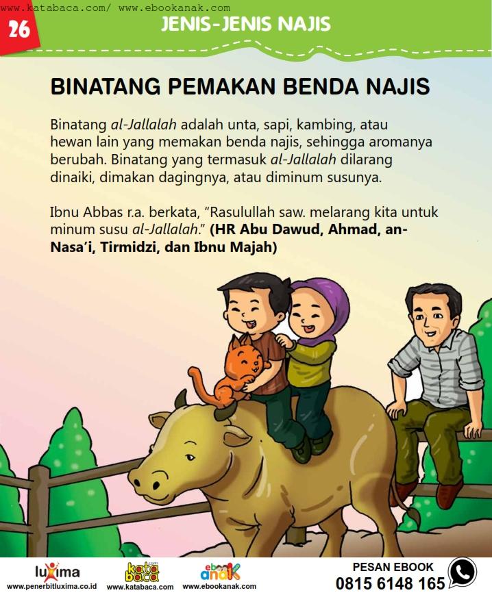 baca buku online, fiqih islam bergambar jilid 1_030 Hukum Binatang Pemakan Benda Najis