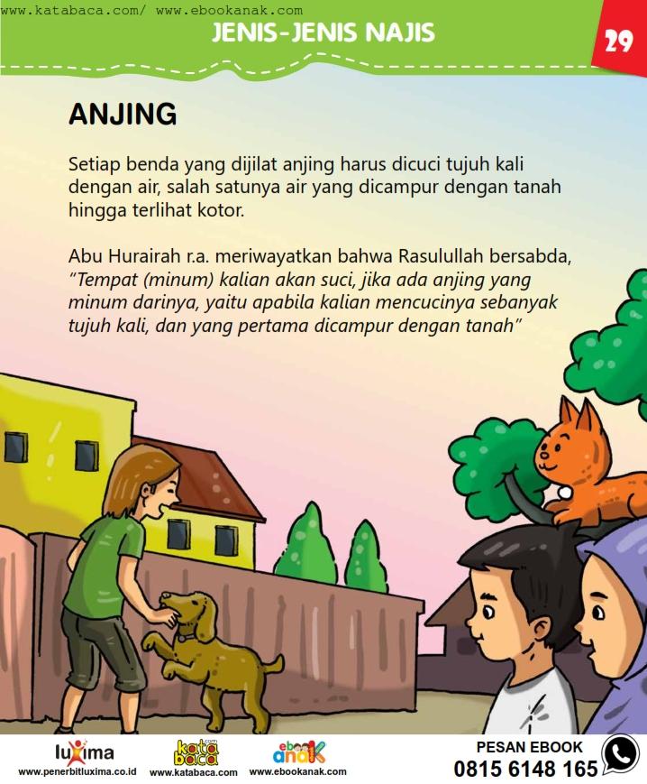 baca buku online, fiqih islam bergambar jilid 1_033 Bagaimana Cara Membersihkan Benda yang Dijilati Anjing