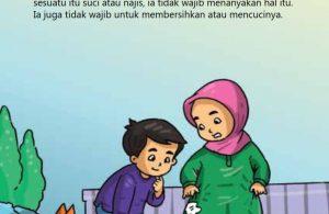 baca buku online, fiqih islam bergambar jilid 1_040 Bagaimana Hukum Najis yang Diragukan
