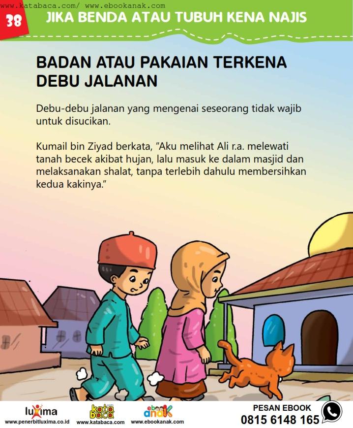 baca buku online, fiqih islam bergambar jilid 1_042 Pakaian Terkena Debu Apa Wajib Disucikan