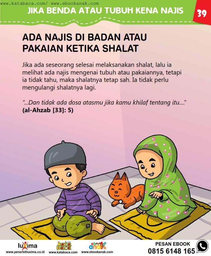 baca buku online, fiqih islam bergambar jilid 1_043 Apa Hukum Orang Shalat yang Tidak Tahu Terkena Najis