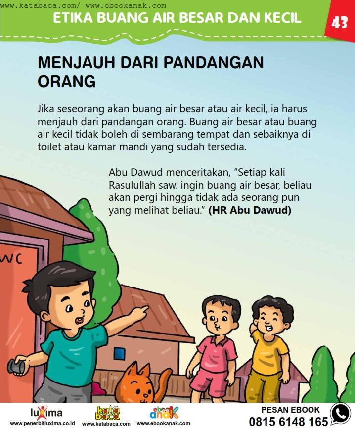 baca buku online, fiqih islam bergambar jilid 1_047 Menjauh dari Pandangan Orang ketika Buang Air Besar dan Kecil