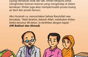 baca buku online, fiqih islam bergambar jilid 1_059 Nabi Ibrahim Dikhitan pada Usia 80 Tahun dengan Kapak