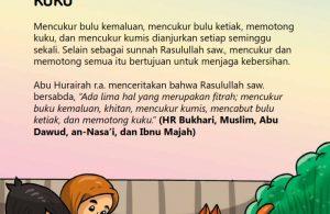 baca buku online, fiqih islam bergambar jilid 1_060 Kapan Sebaiknya Mencukur Kumis dan Kuku Dilakukan