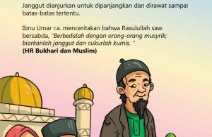 baca buku online, fiqih islam bergambar jilid 1_061 Kata Nabi Memanjangkan Janggut dan Membiarkannya Tumbuh Lebat