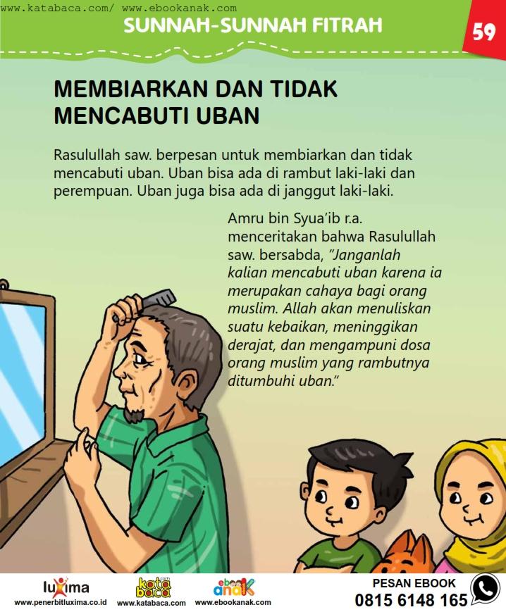 baca buku online, fiqih islam bergambar jilid 1_063 Kenapa Nabi Melarang Kita Mencabuti Uban