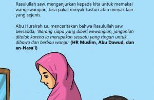 baca buku online, fiqih islam bergambar jilid 1_064 Apakah Nabi Memperbolehkan Kita Memakai Minyak Wangi